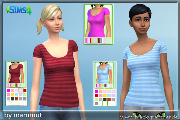Blackys Sims 4 Zoo: Solid Stripes Top