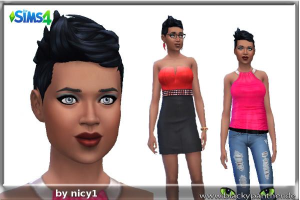 Blackys Sims 4 Zoo: Melinda female sims model by nicy1