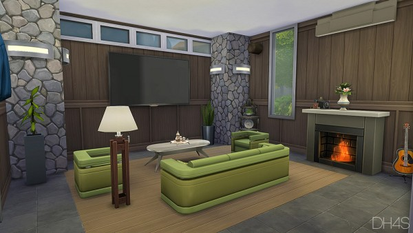 Dh4s modern classic livingroom sims 4 downloads for Living room designs sims 4