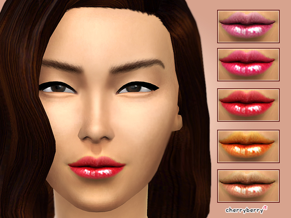 The Sims Resource: My Kiss   Lipgloss by Cherry Berry Sims