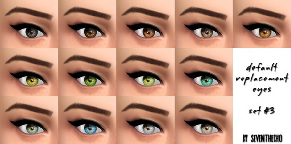 Seventhecho: Default Replacement Eyes set 3