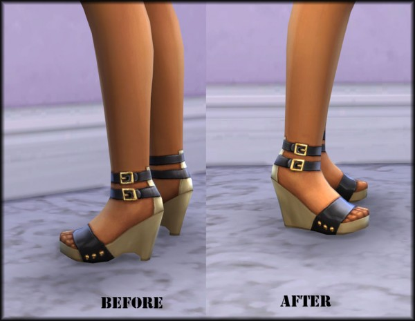 Mod The Sims: New Mesh New High Wedges by Julie J