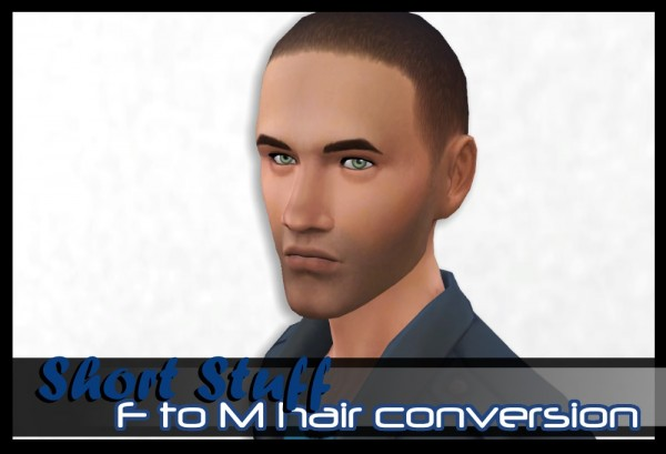 Mod The Sims: Short Stuff female to male hair conversion by spladoum