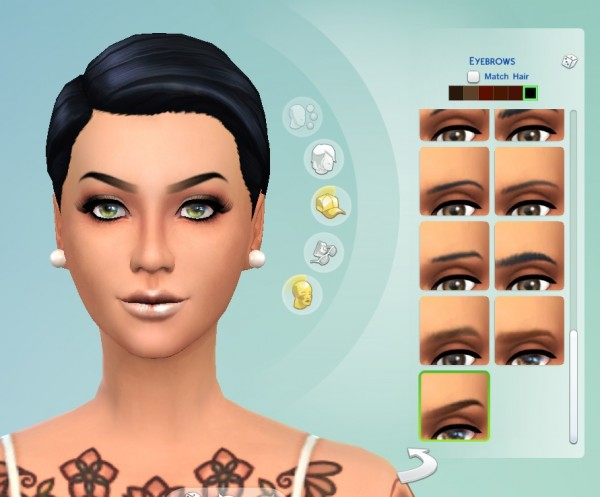 Mod The Sims: Ombre Brows by Cloud9sims