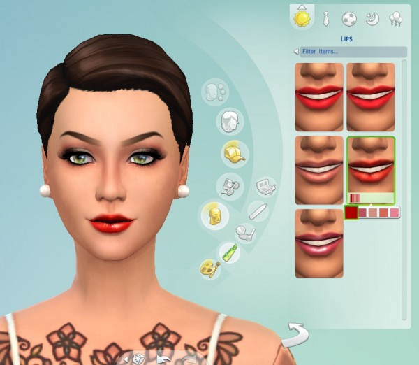 Mod The Sims: 5 Lipgloss Pack by Cloud9sims