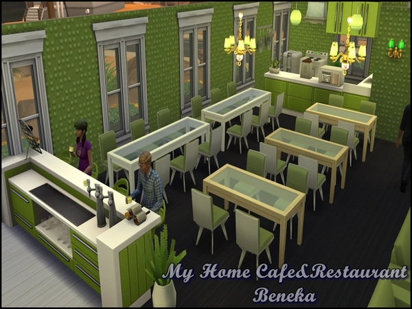 The Sims Resource My Home Cafe Amp Restaurant Sims 4