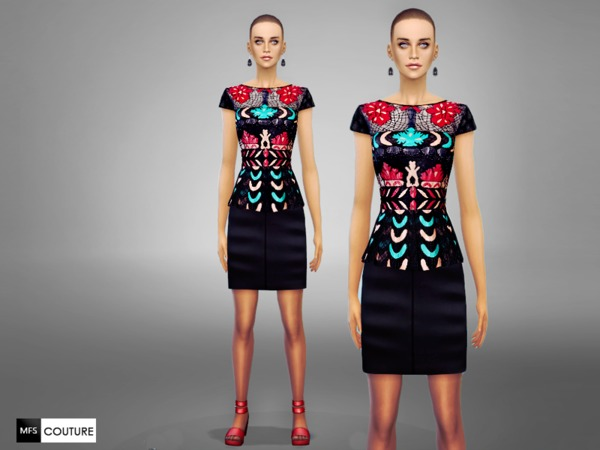 The Sims Resource: Baroque Dress by Miss Fortune