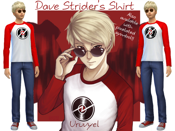 The Sims Resource: Dave Striders Shirt by Uruvyel
