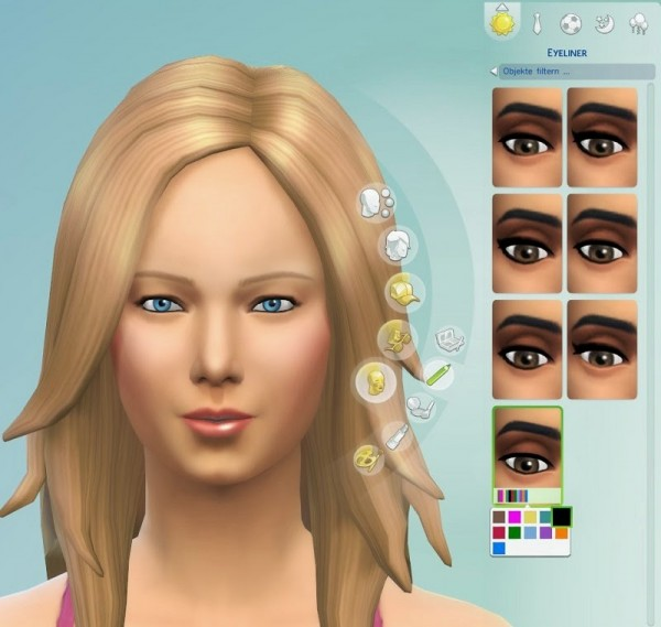 19 Sims 4 Blog: Eyeliner Set 1