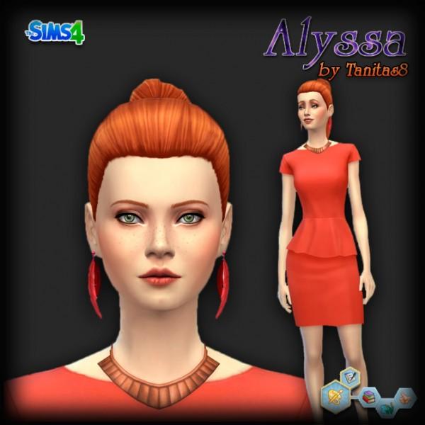 Sims Creativ: Alyssa female sims model by Tanitas8