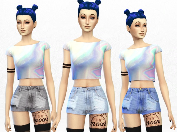 The Sims Resource: Ripped Shorts by Sims Punk • Sims 4 ...