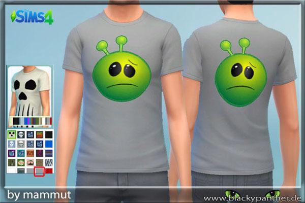 Blackys Sims 4 Zoo: Sad Alien Gray t shirt