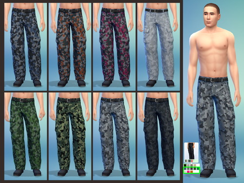 Simply Morgan: 750 followers gift   Standalone Cargo Pants with 18 Recolors for female +  8 Non Default Recolors for Male