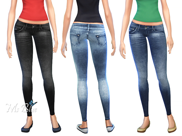 The Sims Resource: Skinny Jeans set by Ms Blue