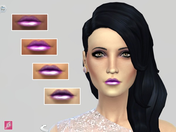 The Sims Resource: Purple Gloss Set by Alexandra Sine