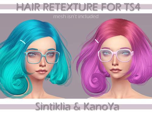 Kanoya Sims Fantastic Colorful Hairs Sims 4 Downloads