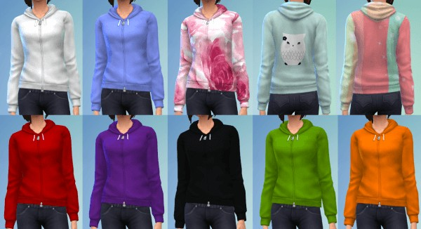 The simsperience: 10 Zipped Hoodies