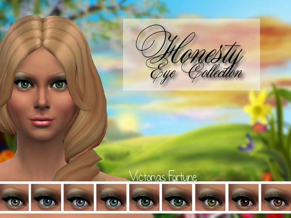 The Sims Resource: Victorias Fortune Honesty Eye Collection set by Fortunecookie1