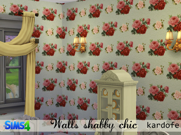 The Sims Resource: Shabby chic walls