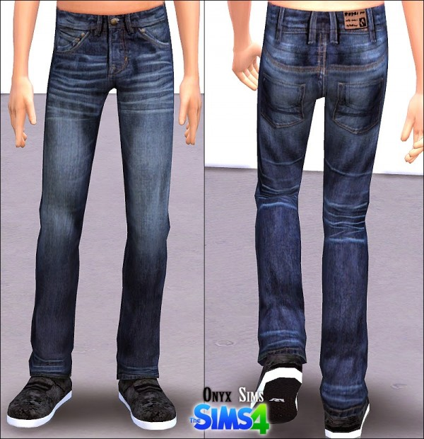 Onyx Sims Boys Jeans Sims 4 Downloads