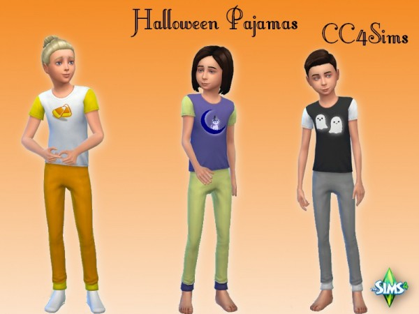 CC4Sims: Halloween Pajamas