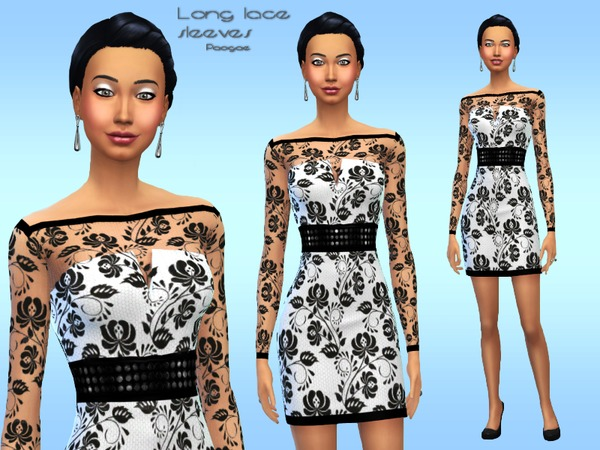 The Sims Resource: Long lace sleeves by Paogae