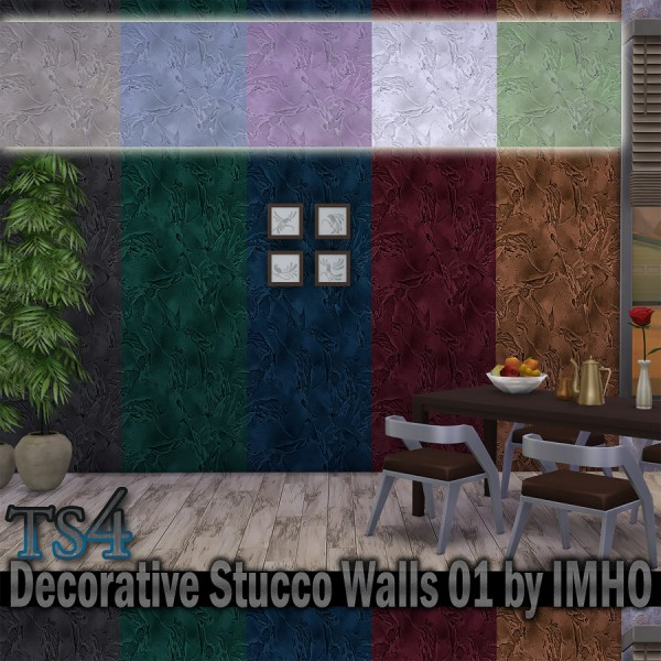 IMHO Sims 4: Decorative Stucco Walls 01