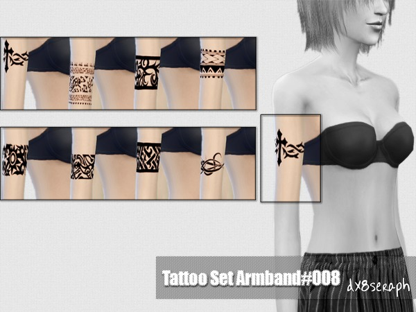 The Sims Resource: Tattoo Set Armband #008 by dx8seraph