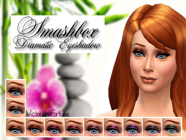 The Sims Resource: Victorias Fortune Smashbox Dramatic Eyeshadow Collection by Fortunecookie1