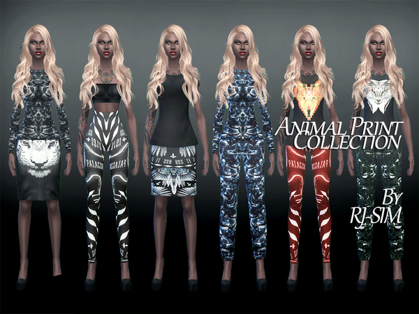 The Sims Resource: Animal Print Collection by RJ SIM