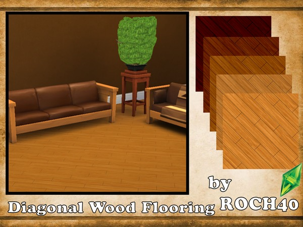 The Sims Resource: Diagonal Wood Flooring By ROCH40 ...