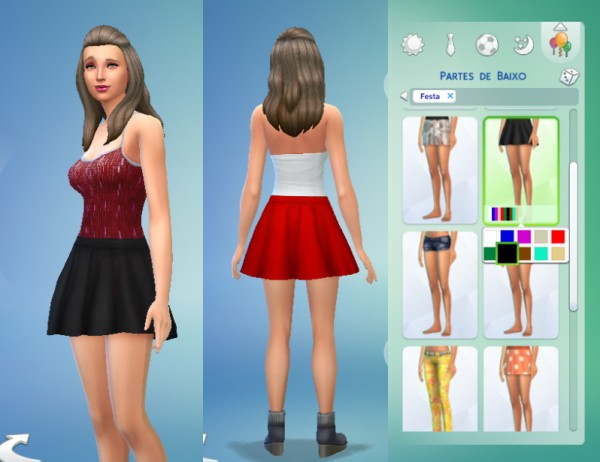 Mod The Sims: Voluptuous Skirt   New Mesh by Kiara24