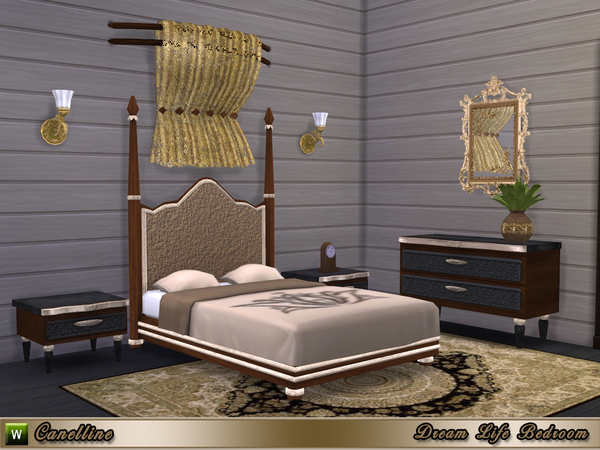 The Sims Resource: Dream Life Bedroom by Canelline
