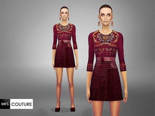 MissFortune Sims: Sicilia Dress