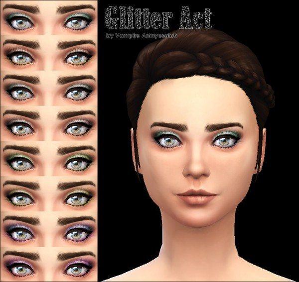 Mod The Sims: Glitter Act Eyeshadow  8 colors  by Vampire aninyosaloh