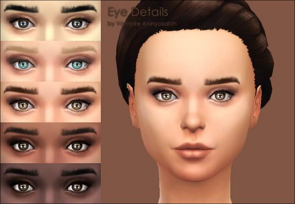 Mod The Sims: Eye Details  eye contour + eyelashes by Vampire aninyosaloh