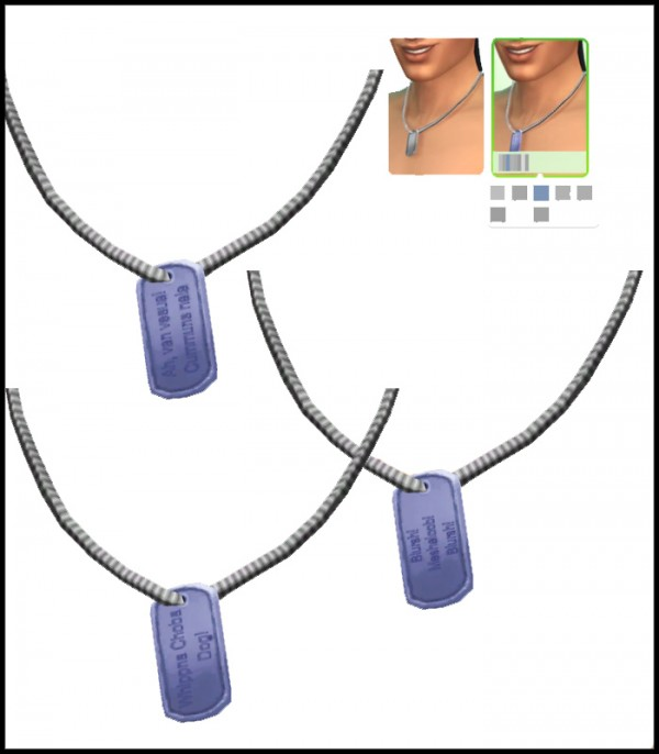 Simista: Simlish Dog Tags
