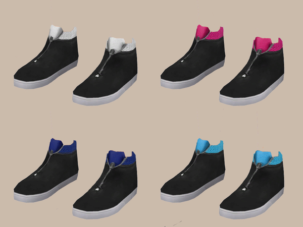 The Sims Resource: High Cut Shoes V4 bytheyoungenzo
