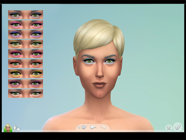 The Sims Resource: Electric Eyeshadow by Drea1219