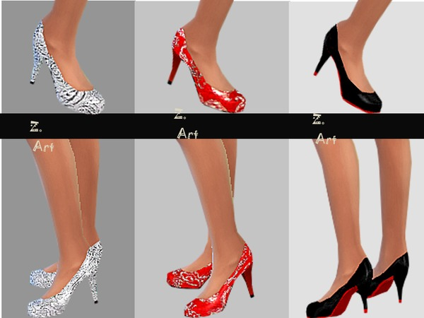 The Sims Resource: More Shoes by Zuckerschnute20