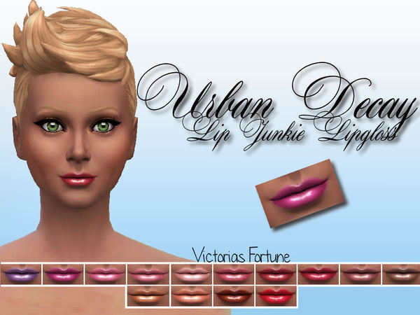 The Sims Resource: Urban Decay Lip Junkie Collection by fortunecookie1