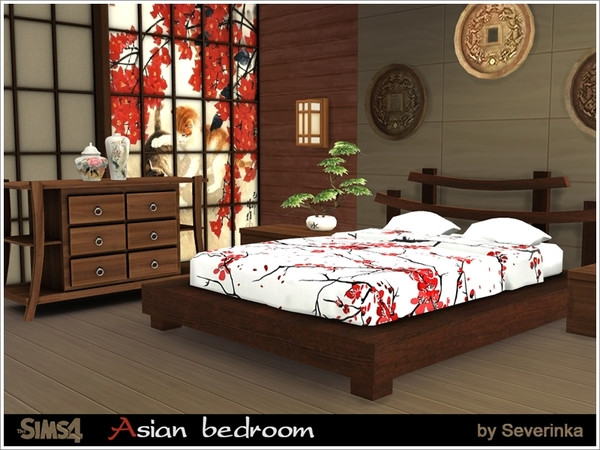 the sims resource asian bedroom by severinka sims 4 11910 | 190