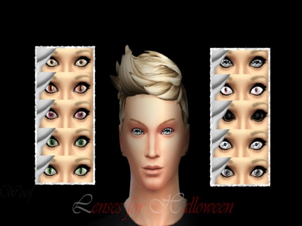 The Sims Resource: Lenses for halloween by MikalinaMikalina