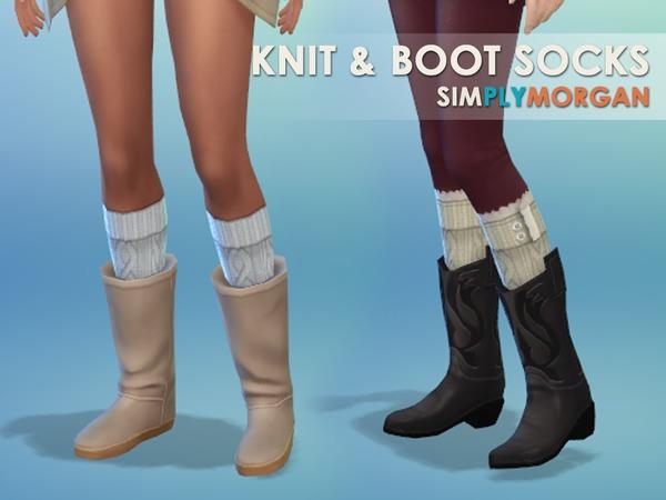 Simply Morgan: Boot and Knit Sock Set by SimplyMorgan77