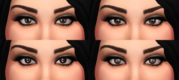 Mod The Sims: Lana   Brown Eyes Set by ZoraVenka