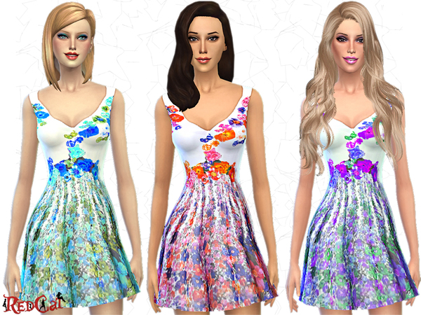 The Sims Resource: Flower Dream Dress by RedCat