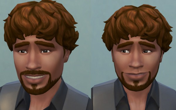 Mod The Sims: Hollywoodian and Klingon beards S4 by necrodog