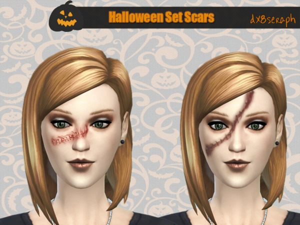 The Sims Resource: Halloween Set Scars by dx8seraph