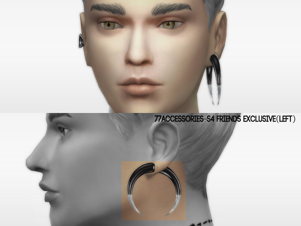 The Sims Resource: Earrings friends exclusive Set by The77sims