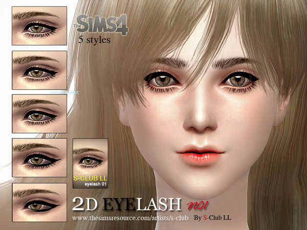 The Sims Resource: LL eyelash 01by S Club ...